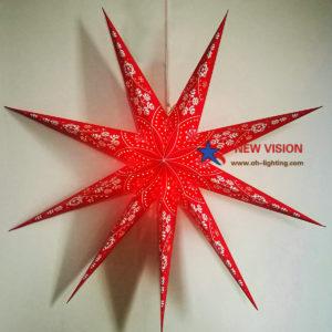 Party Decoration Led Light Paper Star Lantern/ Paper Star Light
